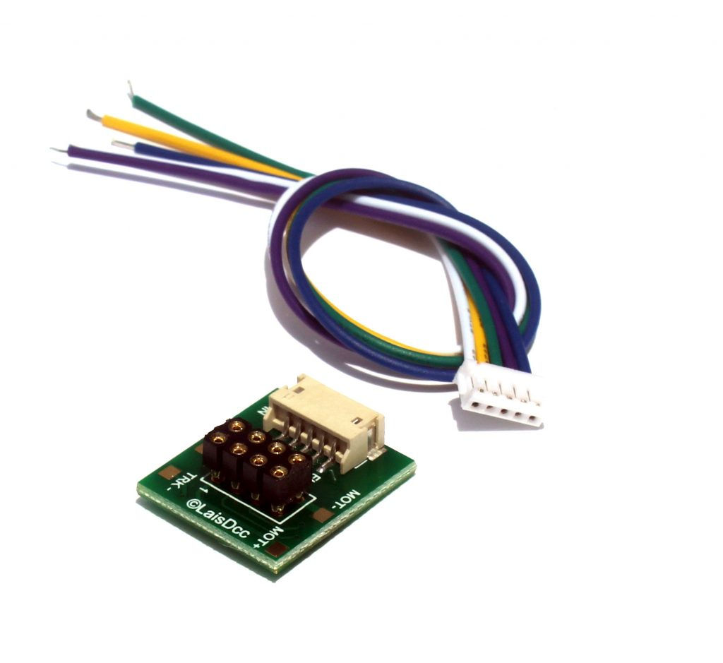 DCC 8 Pin NEM65 Socket with Solder Tabs and 5PIN JST PLUG