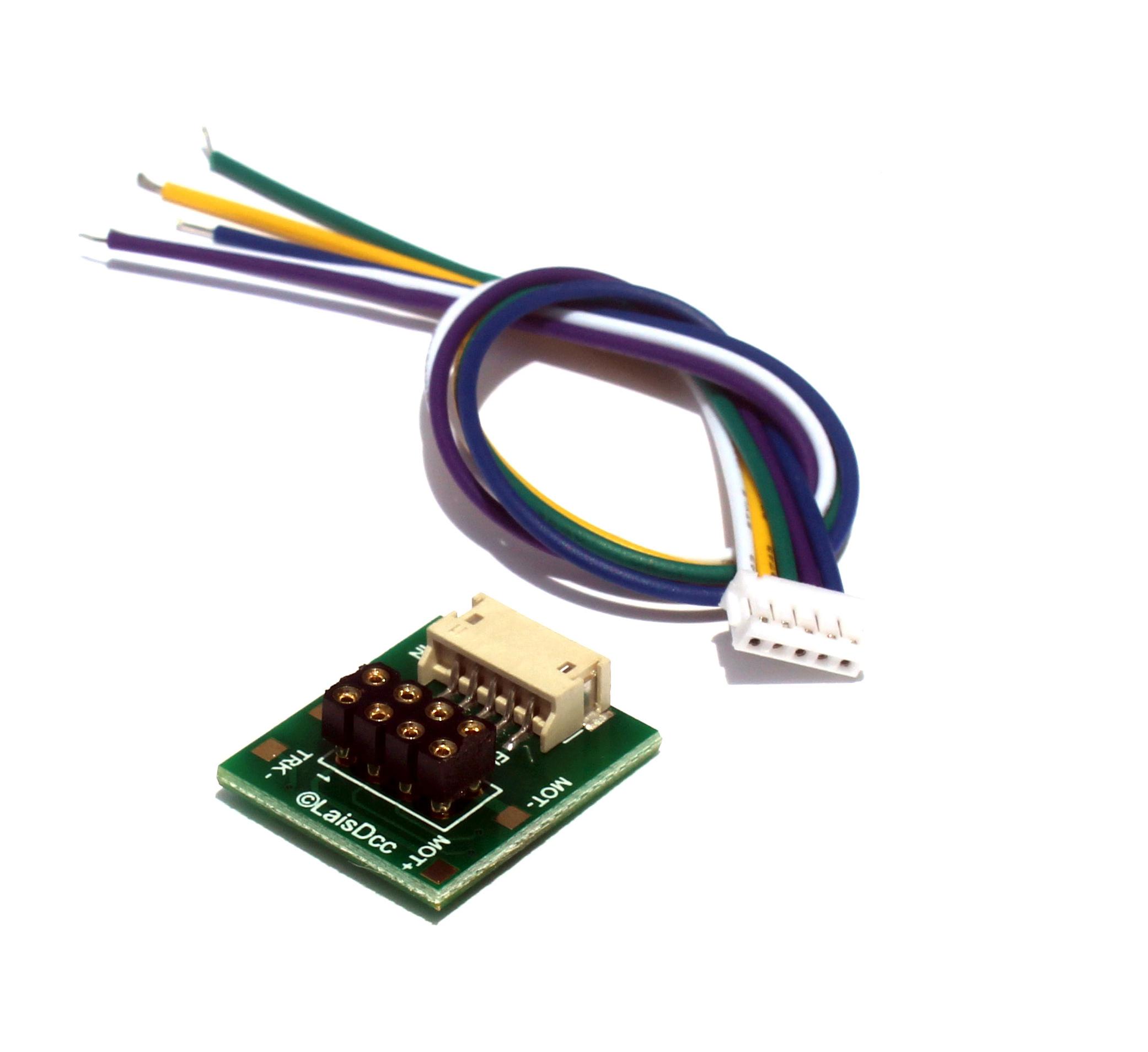 DCC 8 Pin NEM65 Socket with Solder Tabs and 5PIN JST PLUG
