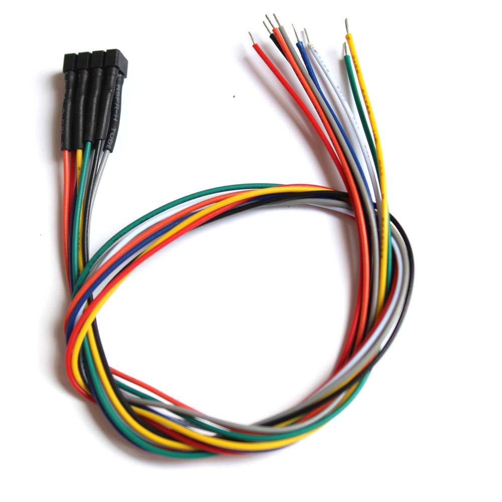 DCC NEM 652 TRAILING WIRED HARNESSES WITH DCC COLOR